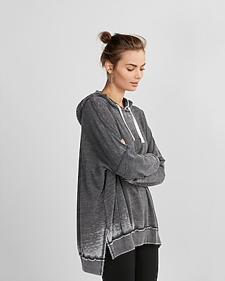 Express Womens Burnout Oversized Pullover Hoodie