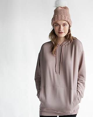 Express Womens Express Womens Express One Eleven Elbow Cut-Out Oversized Hooded Sweats