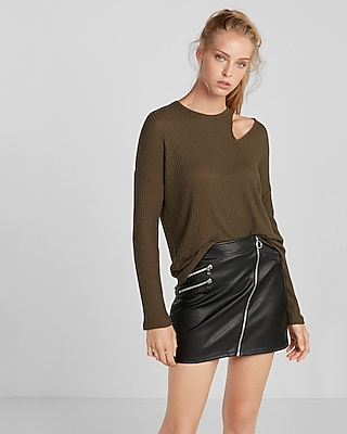 Express Womens Petite Sliced Dolman Tee