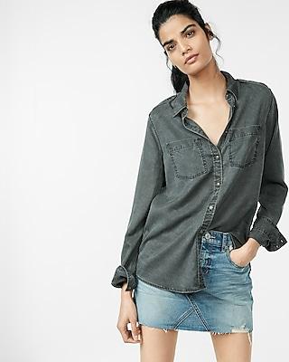 Silky Soft Twill Boyfriend Shirt