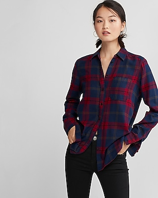 Express Womens Flannel Shirt