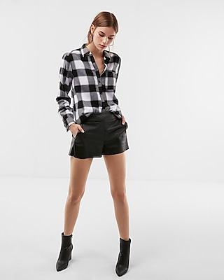 Express Womens Check Flannel Ultimate Essential Shirt
