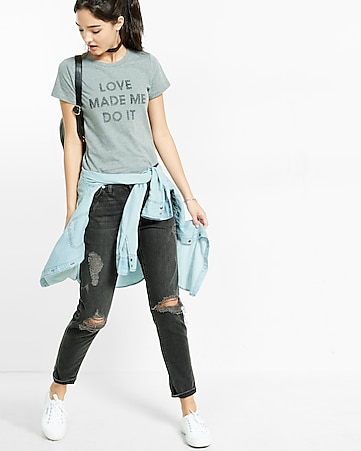 express one eleven love me do it graphic bodysuit