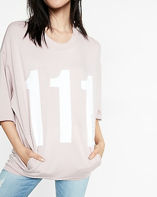 Express One Eleven Logo Oversized Sweatshirt