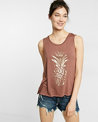 Foil Pineapple Muscle Tank