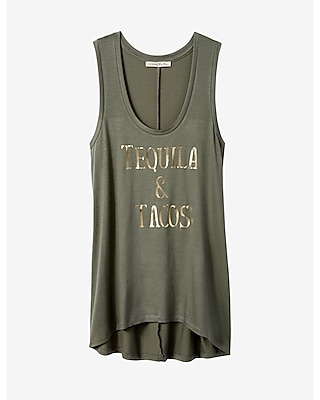 Express Womens Express One Eleven Tequila And Tacos Tank