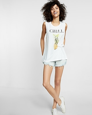 Chill Pineapple Crew Neck Muscle Tank