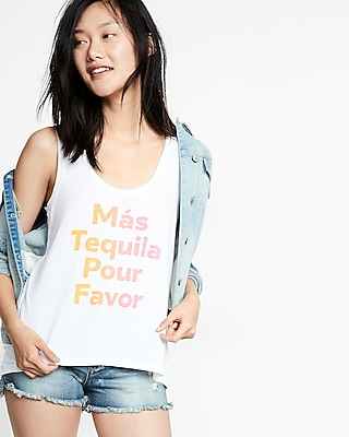Mas Tequila Scoop Neck Muscle Tank