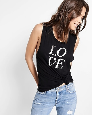 Express Womens Express One Eleven Love Muscle Tank