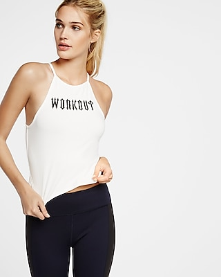 Express Womens Exp Core Workout Abbreviated Square Neck Cami