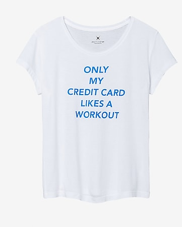 EXP core credit card workout graphic tee