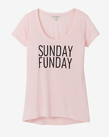 express one eleven sunday funday hi lo tee