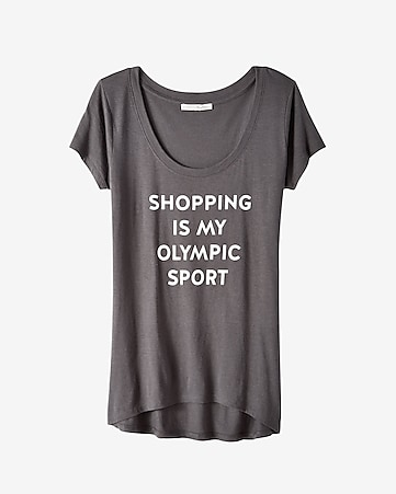 express one eleven shopping olympics graphic tee