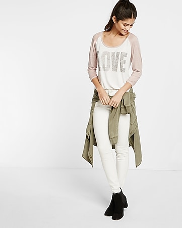 express one eleven love baseball tee