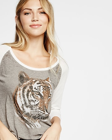 express one eleven tiger baseball tee
