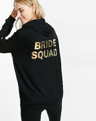 Express Womens Express One Eleven Bride Squad Back Graphic Hoodie