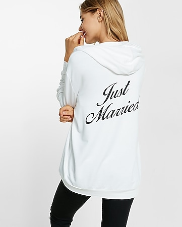 express one eleven just married hoodie