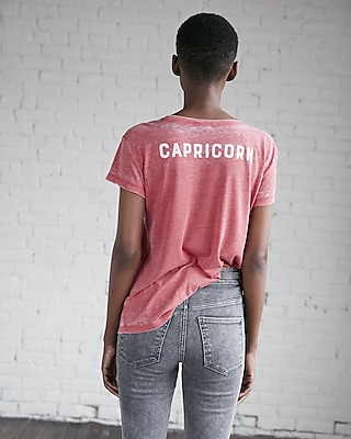 Express Womens Saturn Made Me Do It Capricorn Graphic Tee