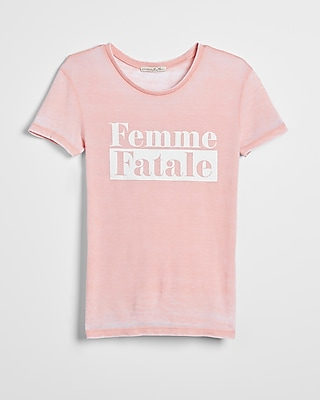 Express Womens Femme Fatale Graphic Tee