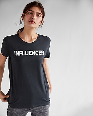 Express Womens Express One Eleven Influencer Easy Crew Neck Tee