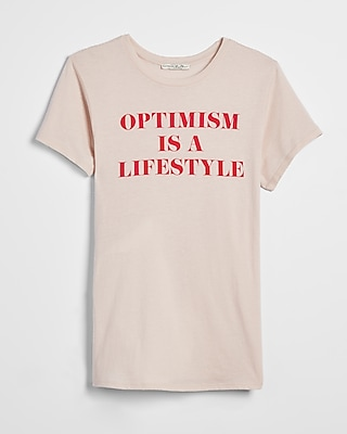 Express Womens Optimism Is A Lifestyle Graphic Boyfriend Tee