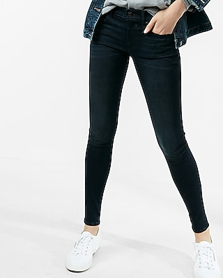 Express Womens Petite Mid Rise Stretch+Supersoft Ankle Jean Leggings
