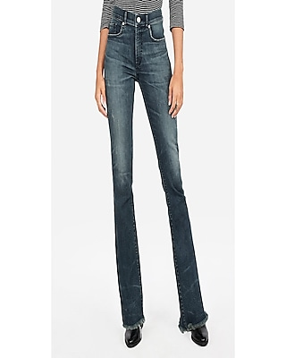 Express Womens Express Womens Petite High Waisted Denim Perfect Stretch+ Barely Boot Jeans