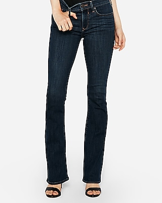 Express Womens Mid Rise Stretch Bootcut Jeans