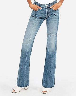 Mid Rise Seamed Bootcut Jeans