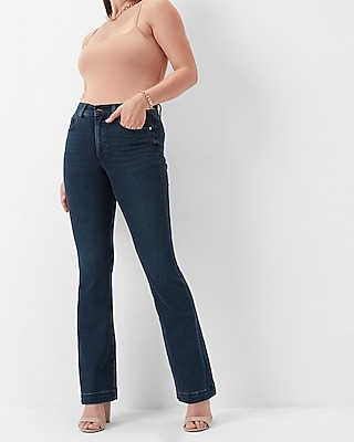 Express Mid Rise Dark Wash Bootcut Jeans
