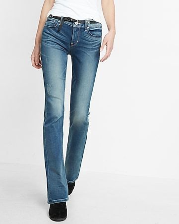 mid rise supersoft barely boot jeans