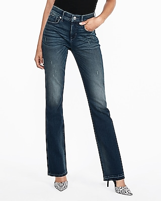 Mid Rise Raw Hem Perfect Curves Barely Boot Jeans