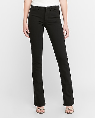 Express High Waisted Denim Perfect Black Barely Boot Jeans