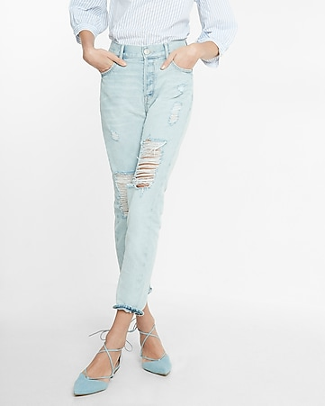 high waisted distressed vintage skinny ankle jeans
