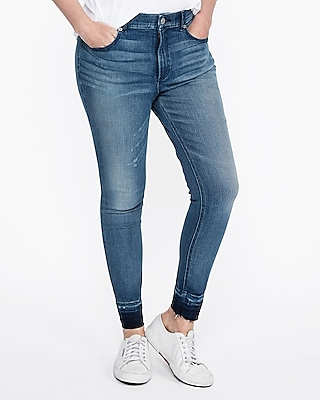 Express Womens Express Womens High Waisted Stretch+ Perfect Curves Jean Ankle Leggings