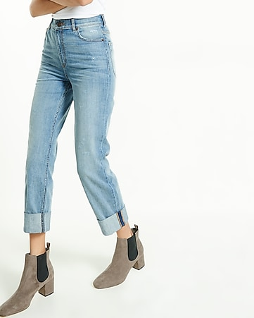 super high waisted slim ankle jean