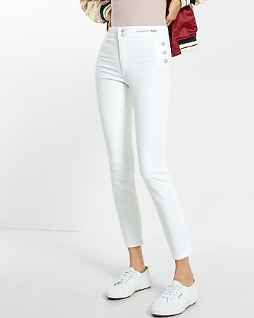 high waisted sailor jean leggings