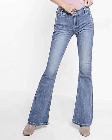 mid-rise bell flare jeans