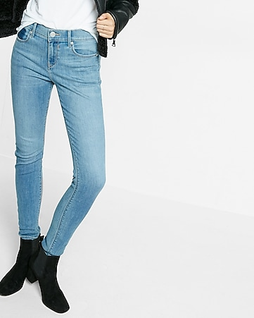 medium mid rise jean legging