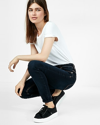 Express Womens Eco-Friendly High Waisted Stretch Jean Leggings