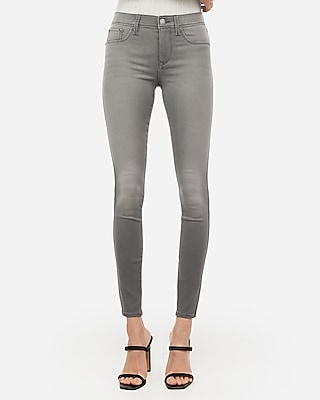 Express Mid Rise Gray Jeggings