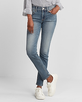 Express Womens Mid Rise Stretch Super Skinny Jeans