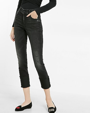 high waisted supersoft cropped super skinny jeans