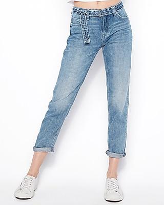 Express Womens Ultra Low Rise Original Boyfriend Jeans
