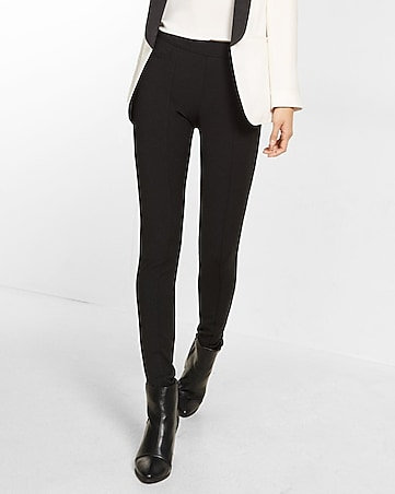 black seamed legging