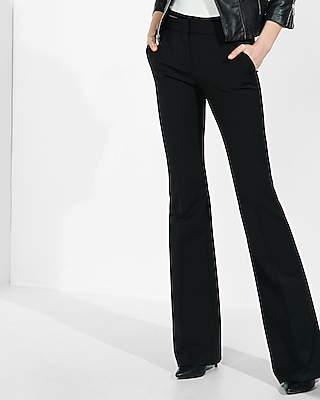 Express Womens Mid Rise Extreme Stretch Flare Pant