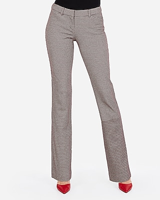 Express Womens Low Rise Micro Diamond Barely Boot Editor Pant