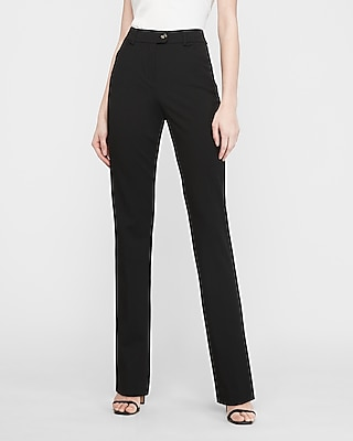 Express High Waisted Horn Button Tab Barely Boot Columnist Pant
