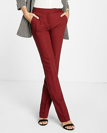 mid rise solid barely boot columnist pant