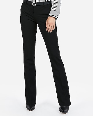Express Womens Petite Mid Rise Columnist Barely Boot Pant